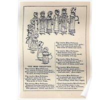 Miniature Under the Window Pictures & Rhymes for Children Kate Greenaway 1880 0017 The Miss Pellicoes Poster