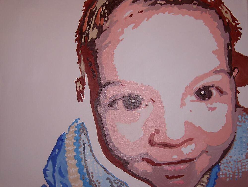 Baby pop art portrait by artist Debbie Boyle - db artstudio by Deborah Boyle