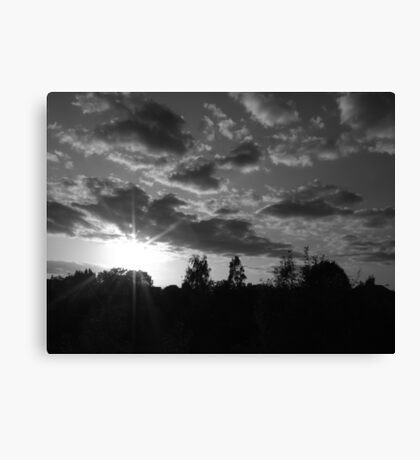 September Sunset in a London Suburb Canvas Print