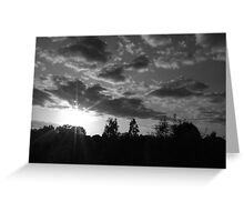 September Sunset in a London Suburb Greeting Card
