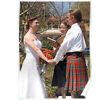 Scottish wedding in America Poster