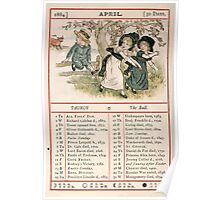 Kate Greenaway Almanack 1880 0010 April Poster