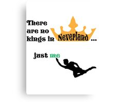 no kings in Neverland Canvas Print
