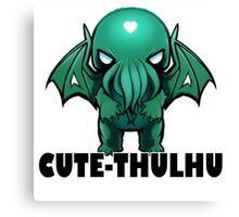 Cute-thulhu Type Canvas Print