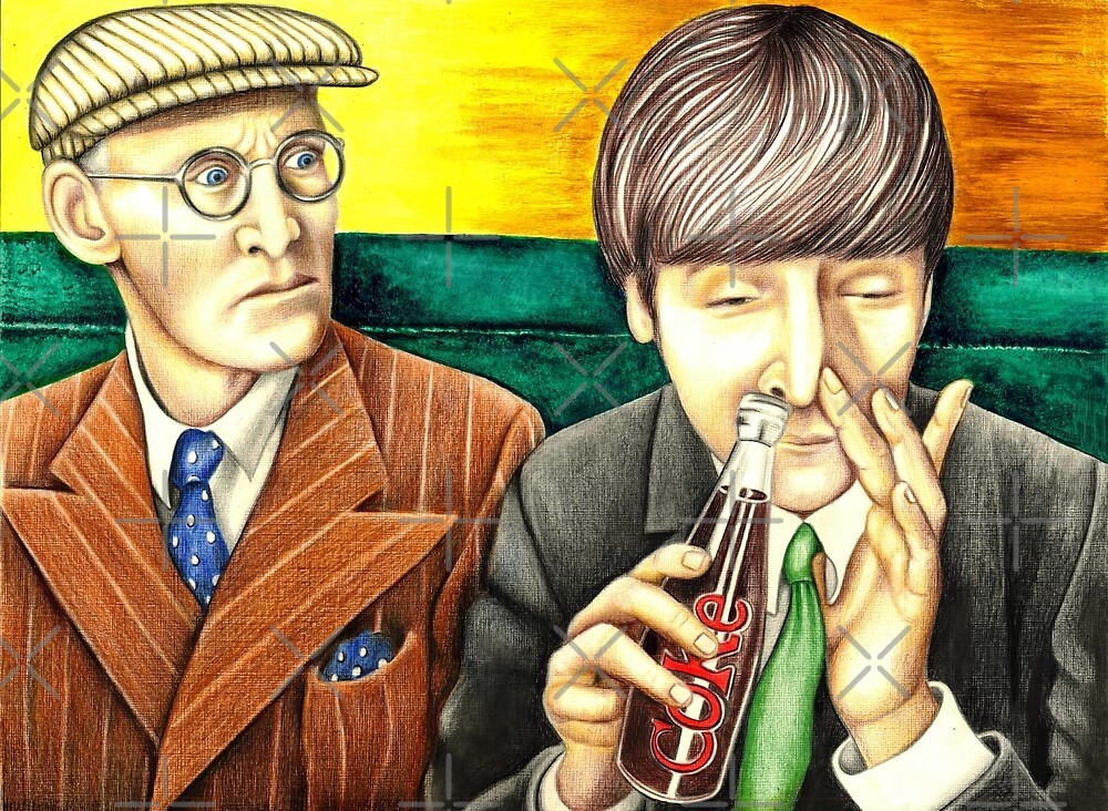 Wilfrid and John - scene from A Hard Day's Night 205 views by Margaret Sanderson