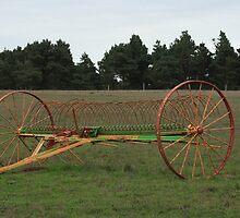 Antique farm implement by Aggiegirl