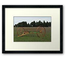 Antique farm implement Framed Print
