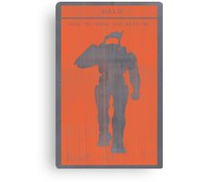 Halo Master Chief Gaming Poster Canvas Print