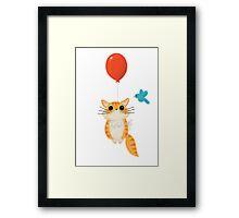 Kitty Balloon :) Framed Print