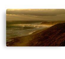 Sunset Sunburst, 13th Beach, Surf Coast Canvas Print