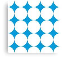 Diamond Brush Stroke Pattern (Blue White) Canvas Print