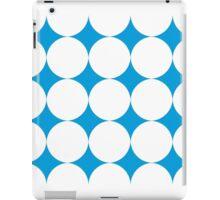 Diamond Brush Stroke Pattern (Blue White) iPad Case/Skin
