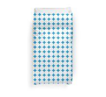 Diamond Brush Stroke Pattern (Blue White) Duvet Cover