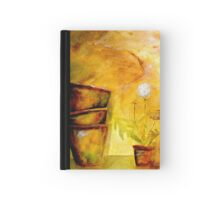 Still Life with Old Dandelion Stencil and Terracotta Pots Hardcover Journal