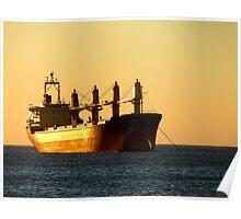 Golden sunset in Santa Marta Poster