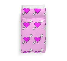 Shot Through The Heart Baton Twirling Pink Duvet Cover