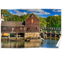HDR Old Grist Mill Poster