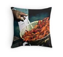 Crawfish Boil Throw Pillow