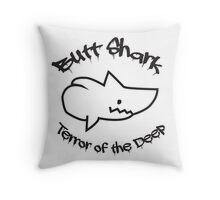 Butt Shark Terror of the Deep Throw Pillow