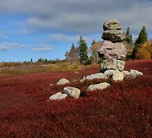 Inukshuk stone pile by Rob vanNostrand