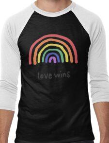 LGBTQA+  PRIDE [Love Wins] Men's Baseball ¾ T-Shirt