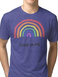 LGBTQA+  PRIDE [Love Wins] Tri-blend T-Shirt