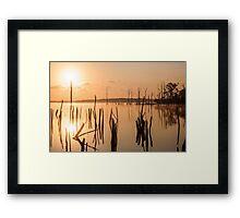 Reservoir at Sunrise  Framed Print