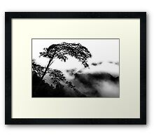 Alone In The Clouds Framed Print