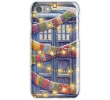 Doctor Who Christmas Tardis  iPhone Case/Skin