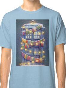 Doctor Who Christmas Tardis  Classic T-Shirt