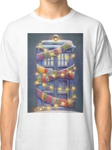 Doctor Who Christmas Tardis  Classic T-Shirt