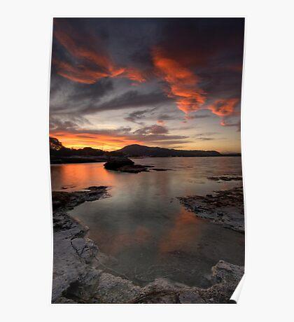 Sulfur Point, Lake Rotorua Poster