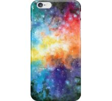 Universal Space, Watercolor Painting iPhone Case/Skin