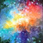 Universal Space, Watercolor Painting by Anila Tac
