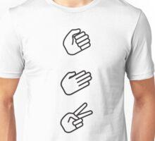 Classic Rock, Paper, Scissors Unisex T-Shirt