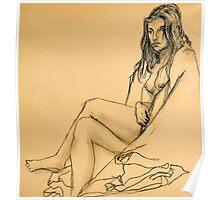 Resting Model Poster