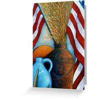 All American Still Life Greeting Card