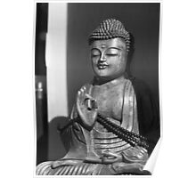 Buddha in BW Poster