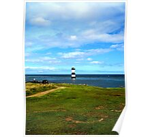 Anglesey lighthouse Poster