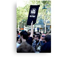S.L.A.M. (Save Live Australian Music) Protest Rally II. Canvas Print