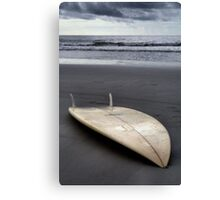 The Lone Surfboard Canvas Print