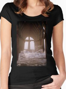 Cross Under The Pier Women's Fitted Scoop T-Shirt