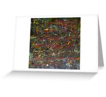 """Down To Earth"" Original Acrylic Abstract Painting Australia Greeting Card"