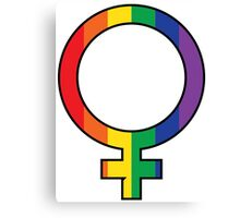 Rainbow Female Symbol Canvas Print