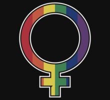 Rainbow Female Symbol by feministshirts