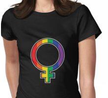 Rainbow Female Symbol Womens Fitted T-Shirt