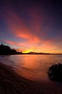 Holdens Bay, Lake Rotorua, Sunset by Michael Treloar