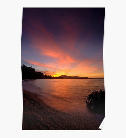 Holdens Bay, Lake Rotorua, Sunset Poster