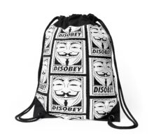 Disobey Drawstring Bag