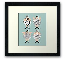 4 Swimming Snorklers  Framed Print